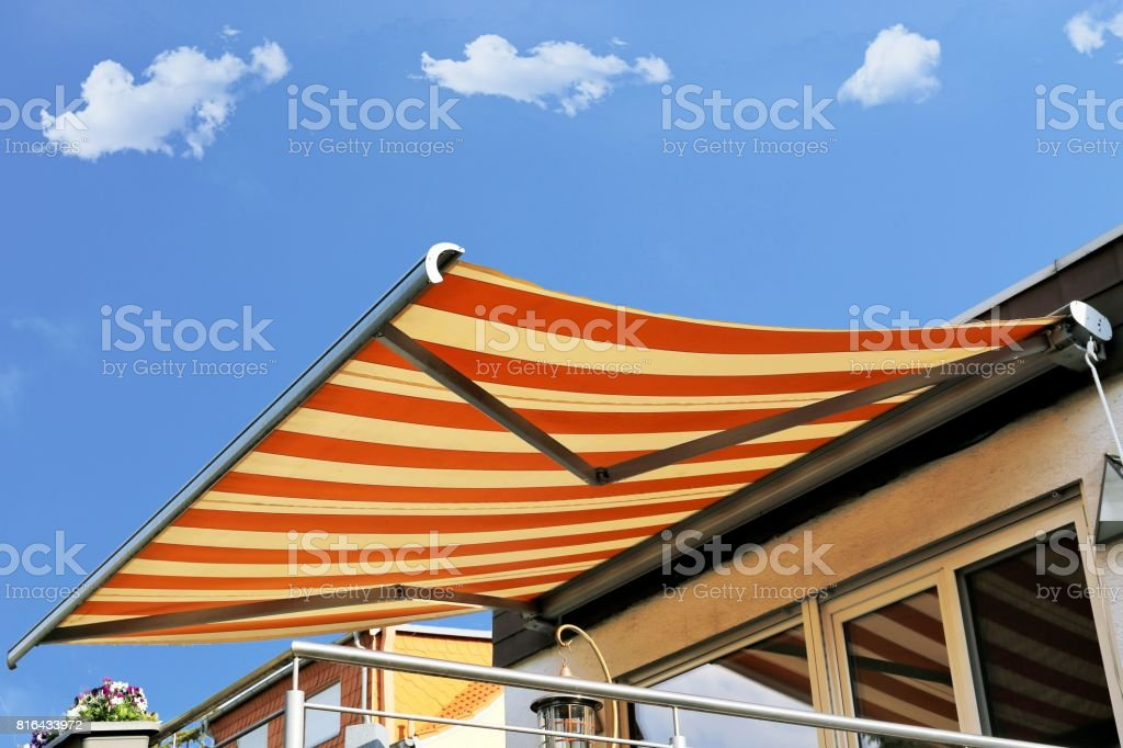 New awning stock photo