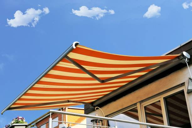 New awning stock photo