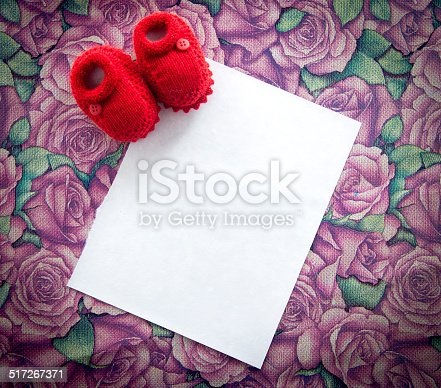 591421282 istock photo New baby announcement greeting card 517267371