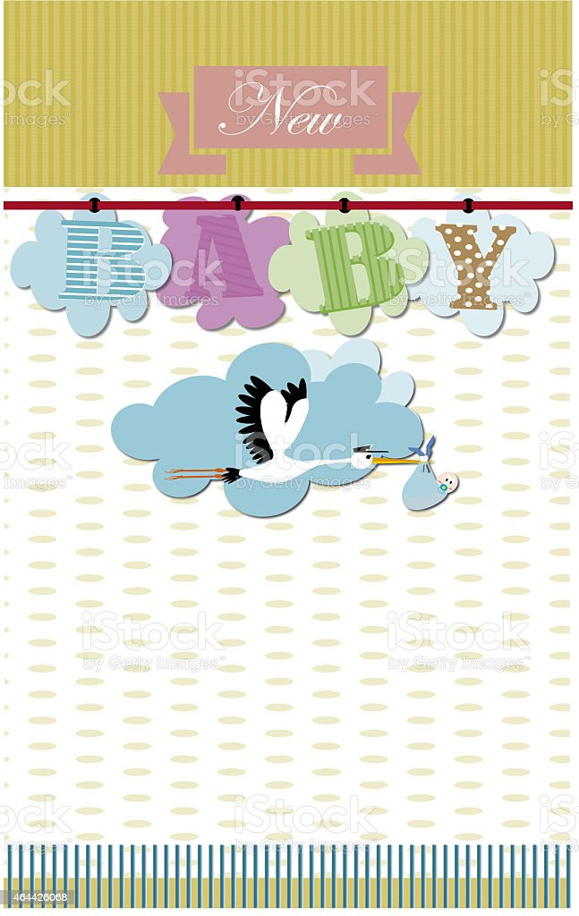 New baby , baby shower stock photo