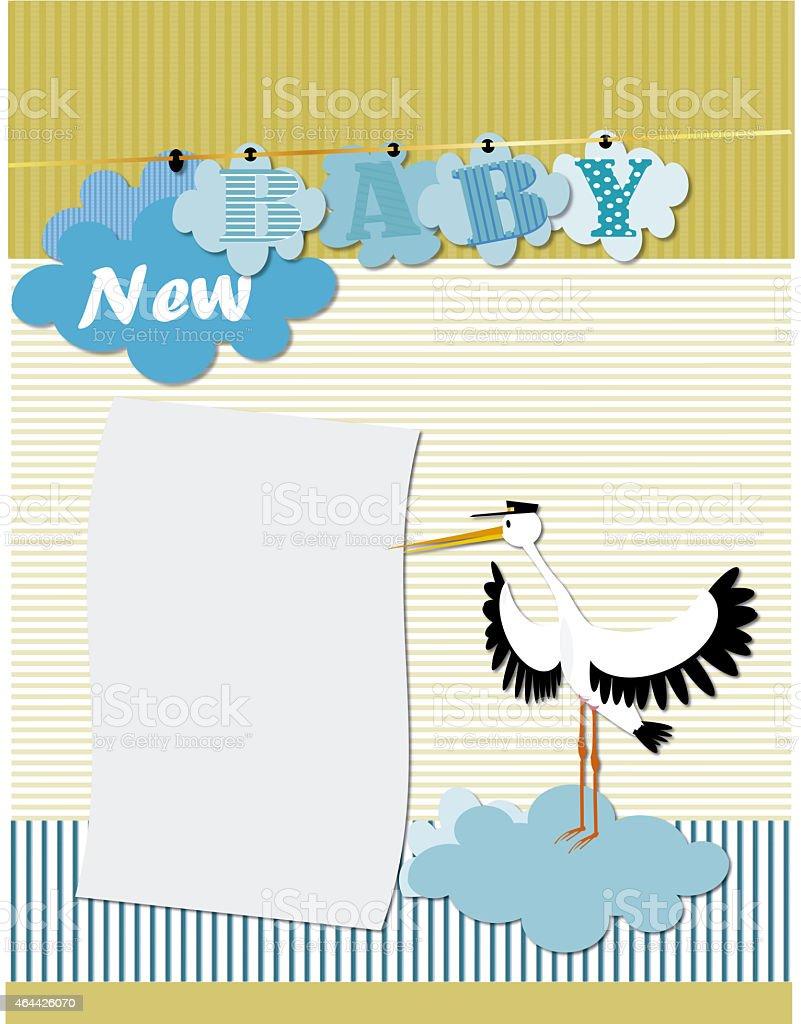New baby , baby shower stock photo