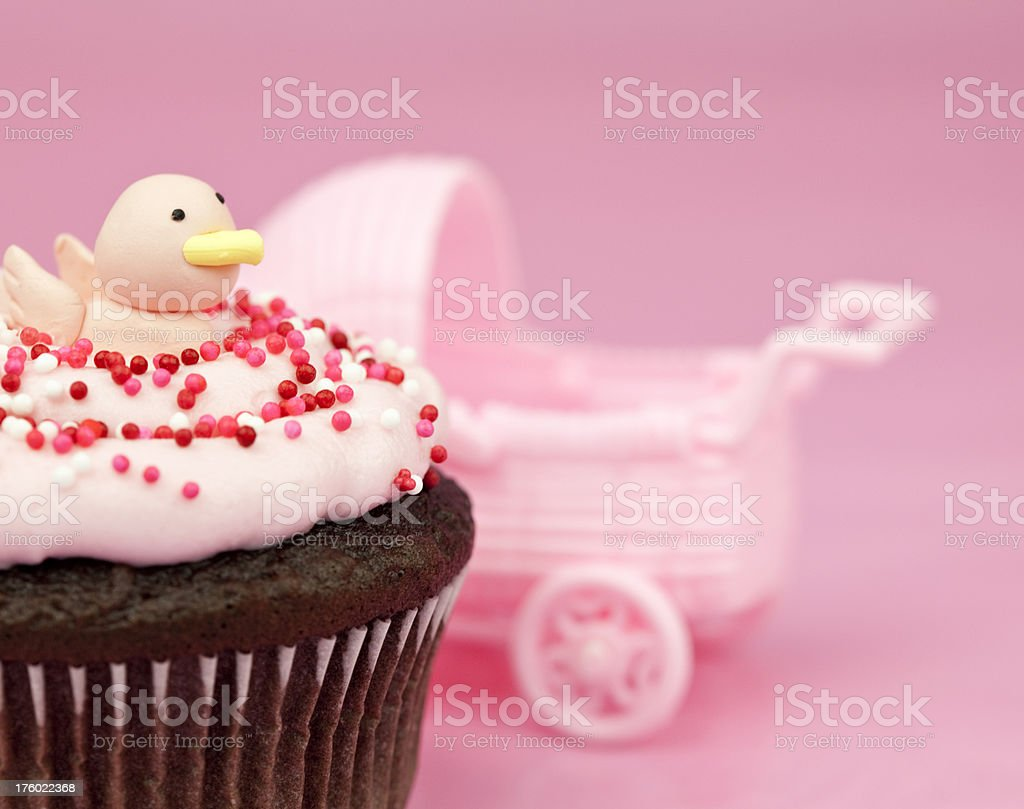 New Baby Girl Cupcake stock photo