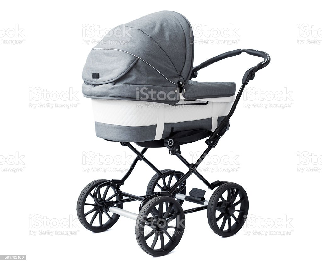 New baby stroller stock photo