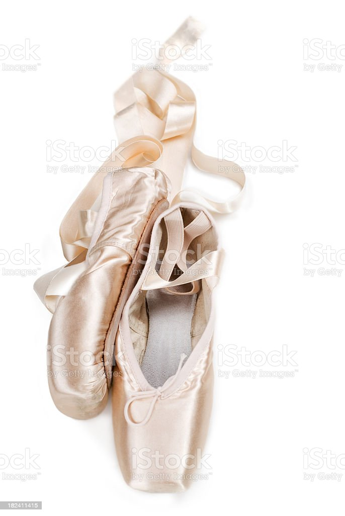New ballet pointe shoes stock photo