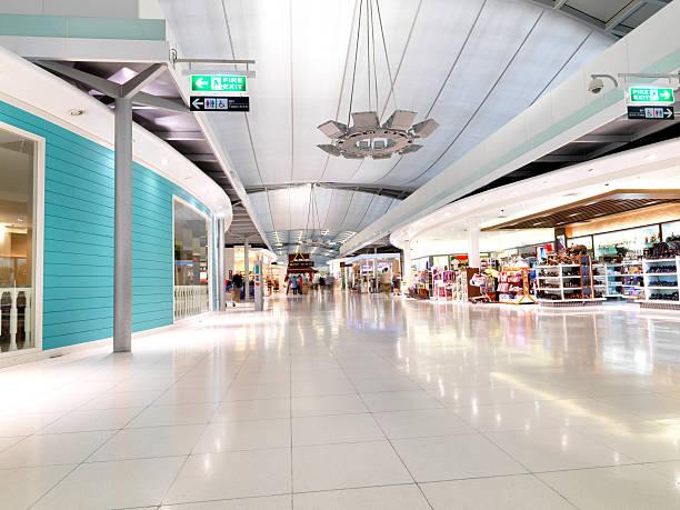 New Bangkok Airport interior stock photo