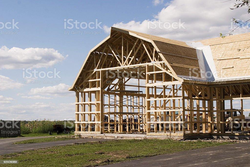 New Barn Construction royalty-free stock photo