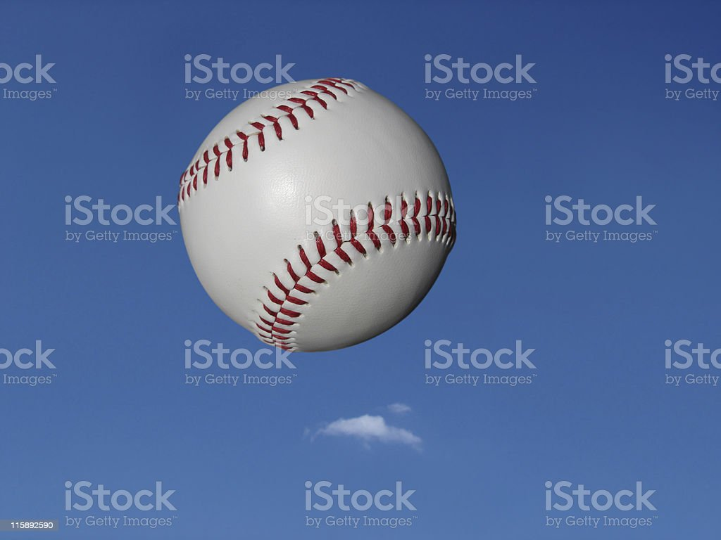 New Baseball in Air stock photo