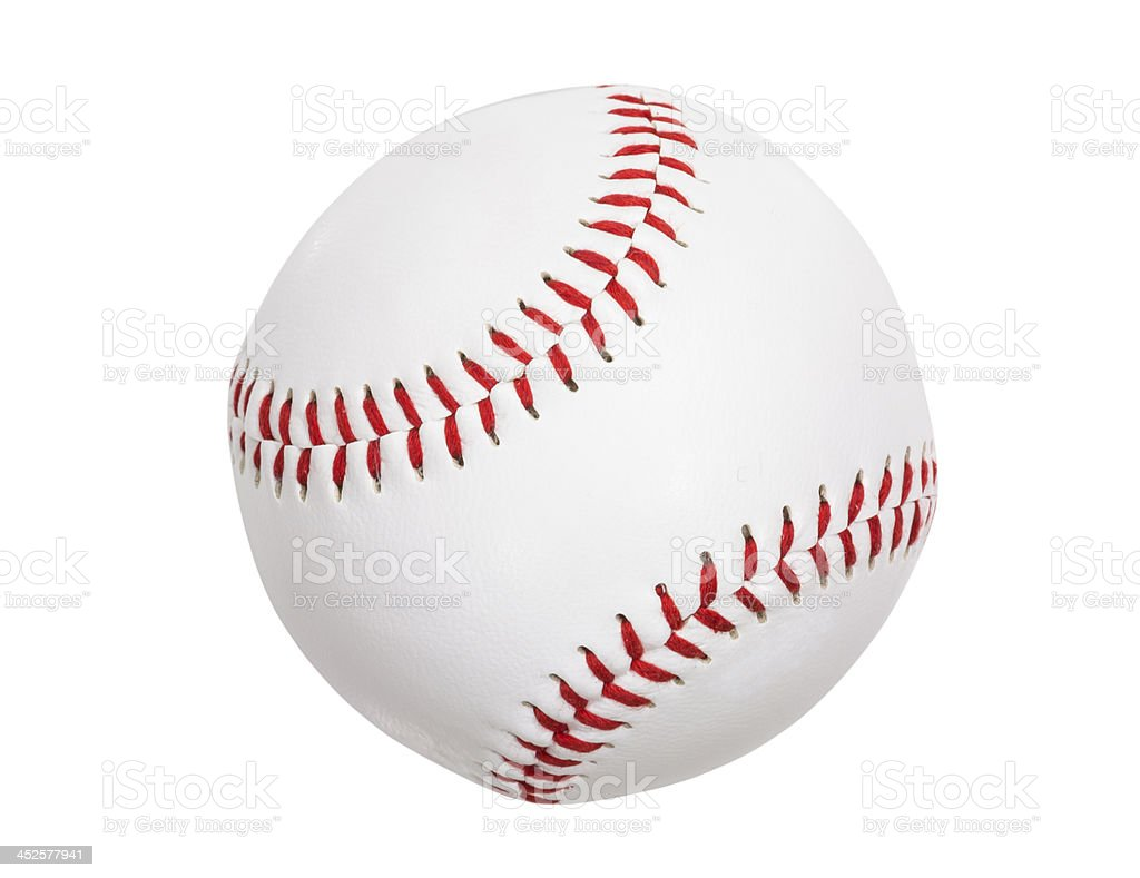 New Baseball Isolated with Clipping Path stock photo