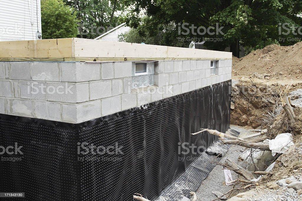 New Basement Foundation stock photo