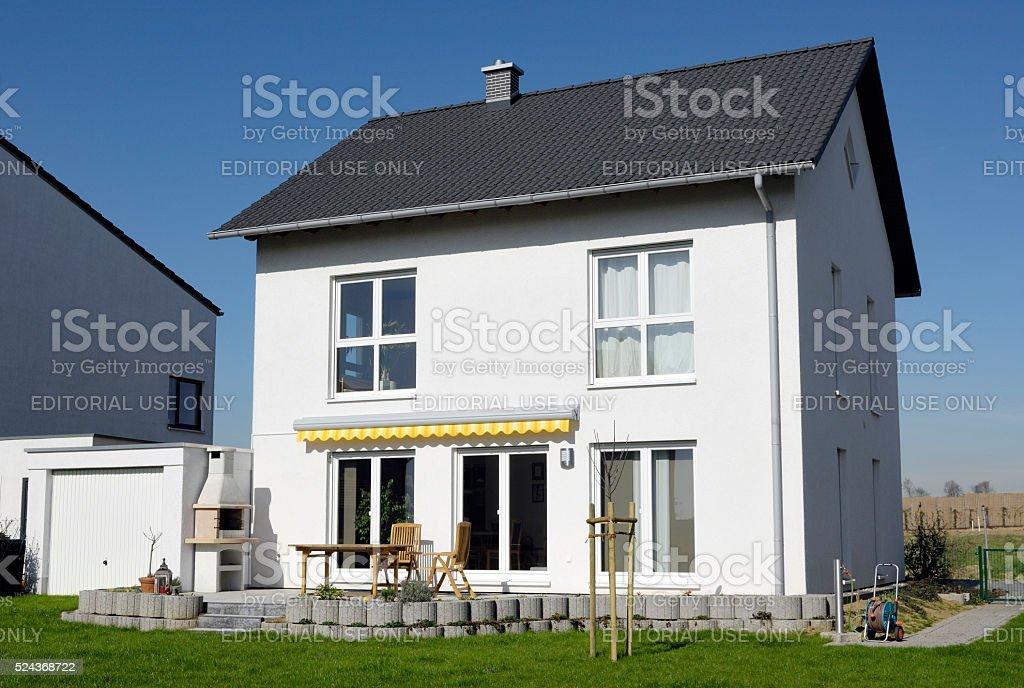 New basic one family house stock photo