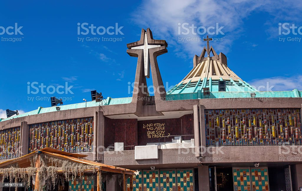 New Basilica Shrine of Guadalupe Christmas Mexico City Mexico stock photo