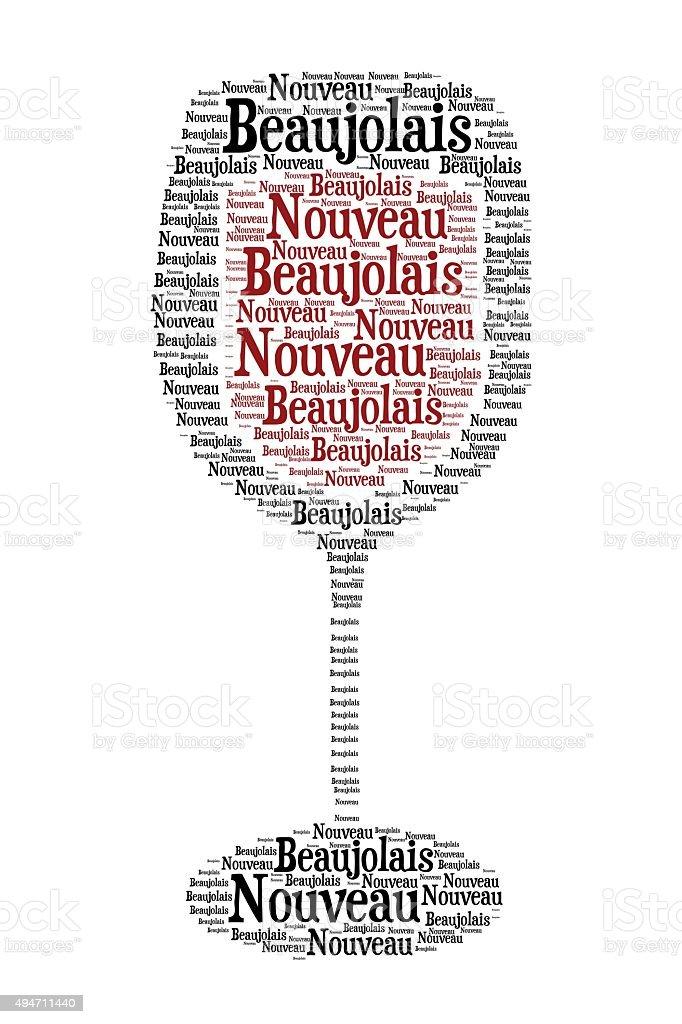 New Beaujolais wine stock photo