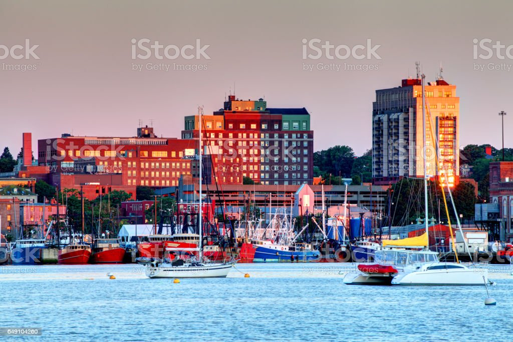 New Bedford Harbor Massachusetts stock photo