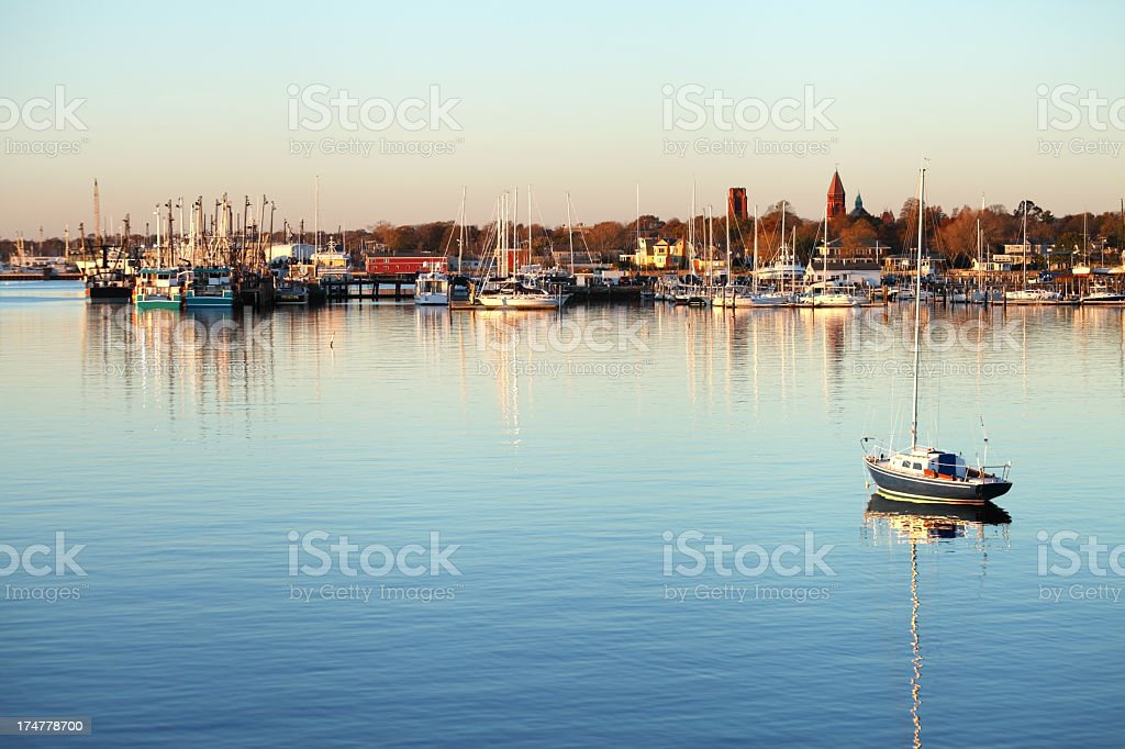 New Bedford Harbor stock photo