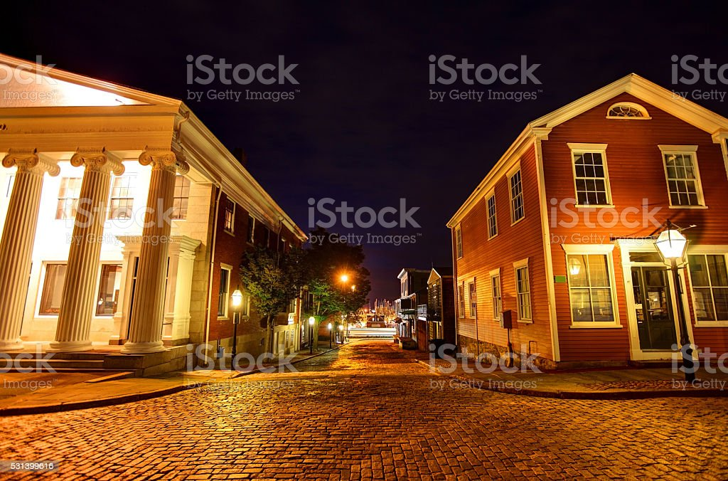 New Bedford Historic District stock photo