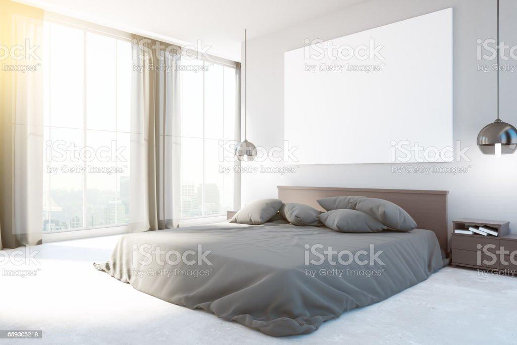 New bedroom interior stock photo
