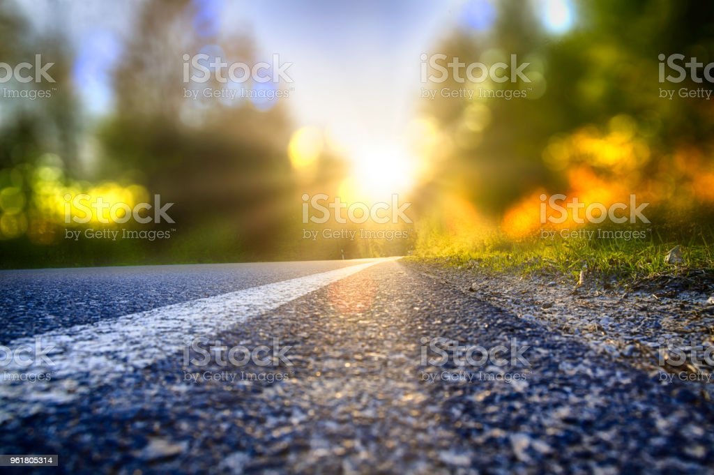 A new beginning into a sunny future stock photo