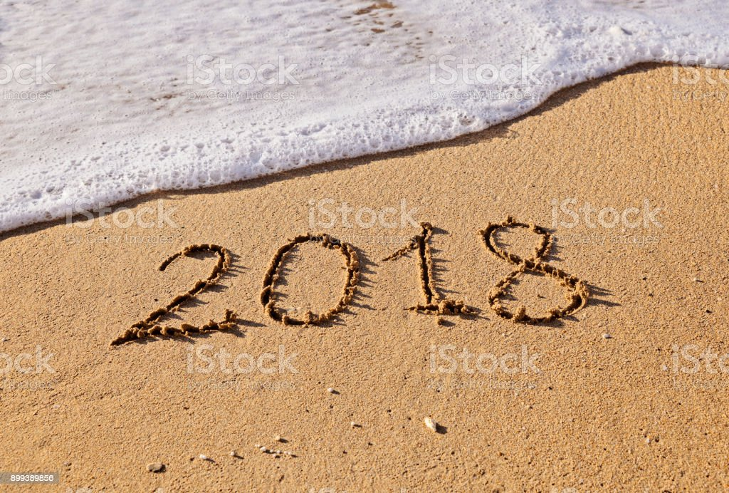 New beginnings and expectations concept in 2018 year stock photo
