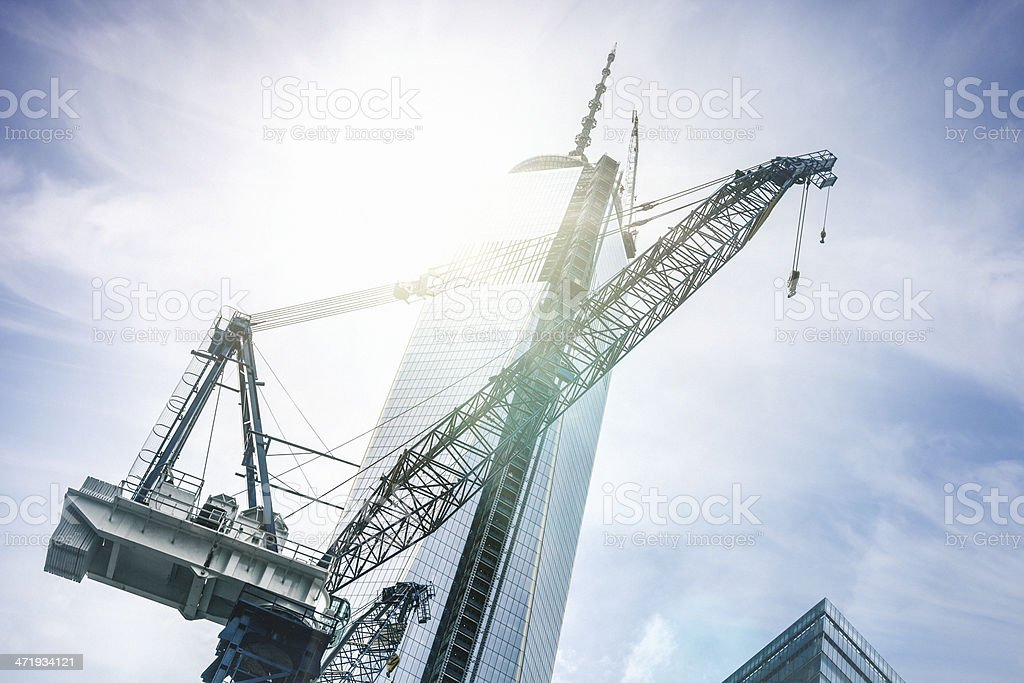 New Beginnings in NYC Downtown royalty-free stock photo