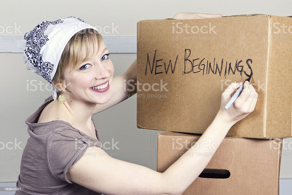 New Beginnings Moving royalty-free stock photo
