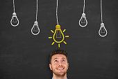 istock New Big Idea over Human Head 528952878