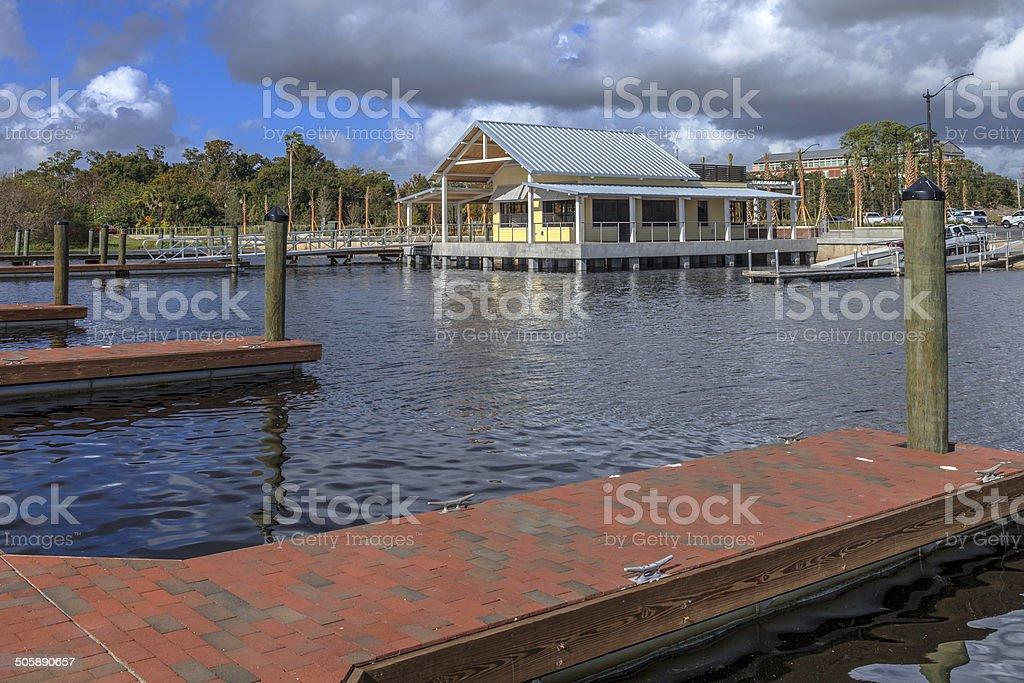 New Big Toho Marina in Kissimmee stock photo