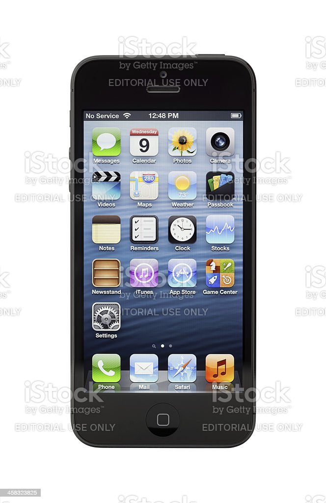 New Black Apple iPhone 5 royalty-free stock photo