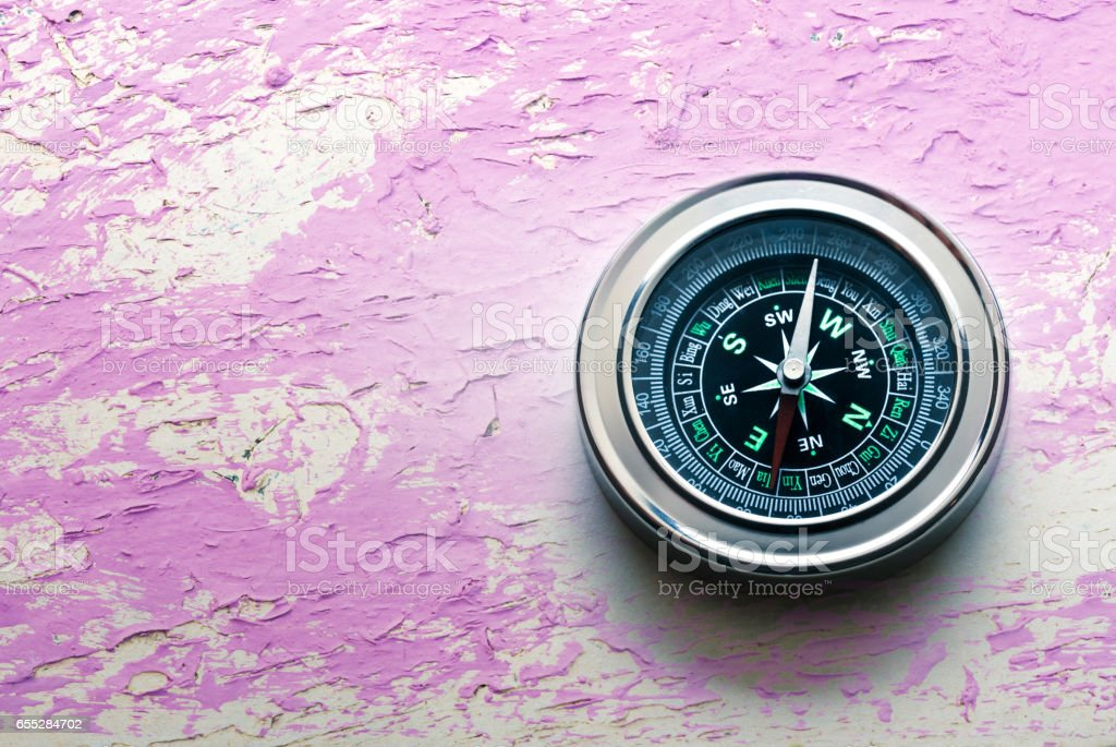 New black compass stock photo