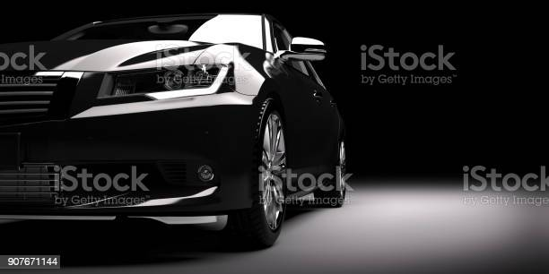 New black metallic sedan car in spotlight modern desing brandless picture id907671144?b=1&k=6&m=907671144&s=612x612&h=dh71cviir3havvizp m00kzcpazfzkb88rk37vtb j8=