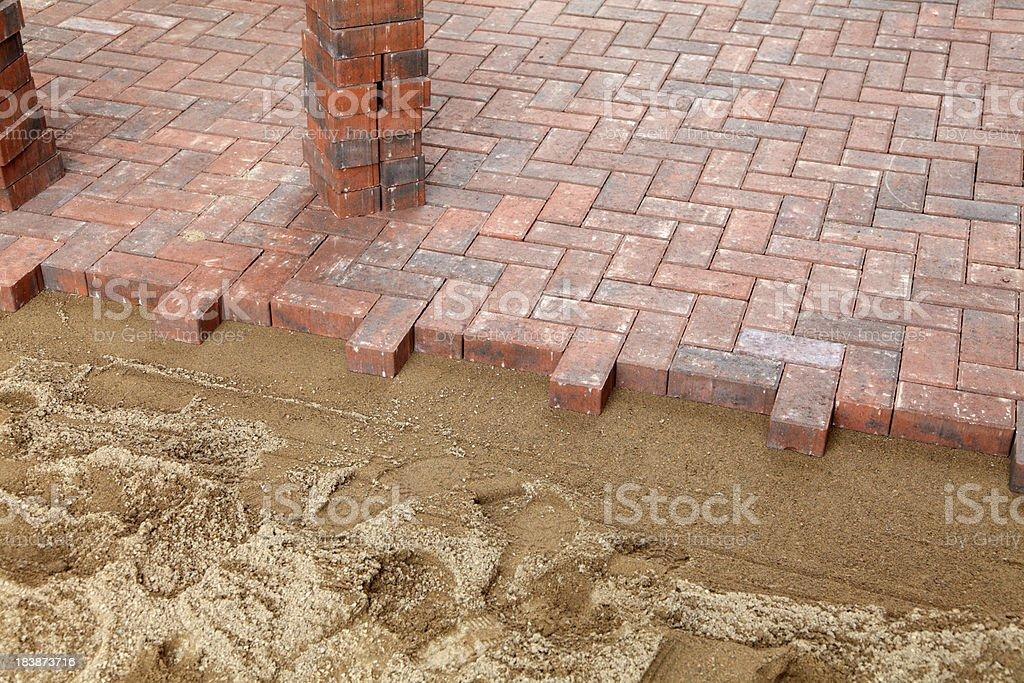 new block paving driveway royalty-free stock photo