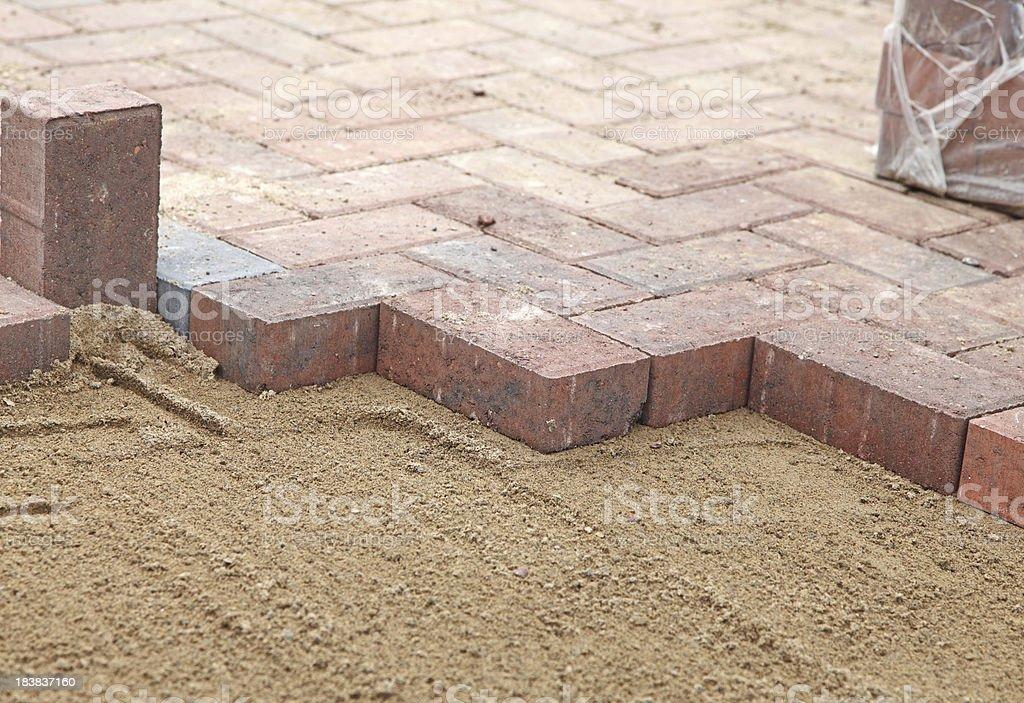 new block paving stock photo