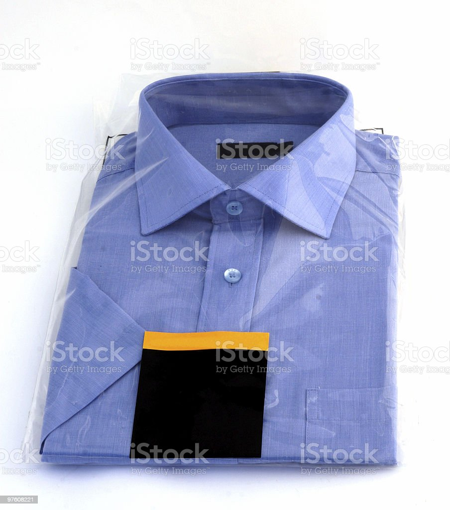 new blue shirt royalty-free stock photo