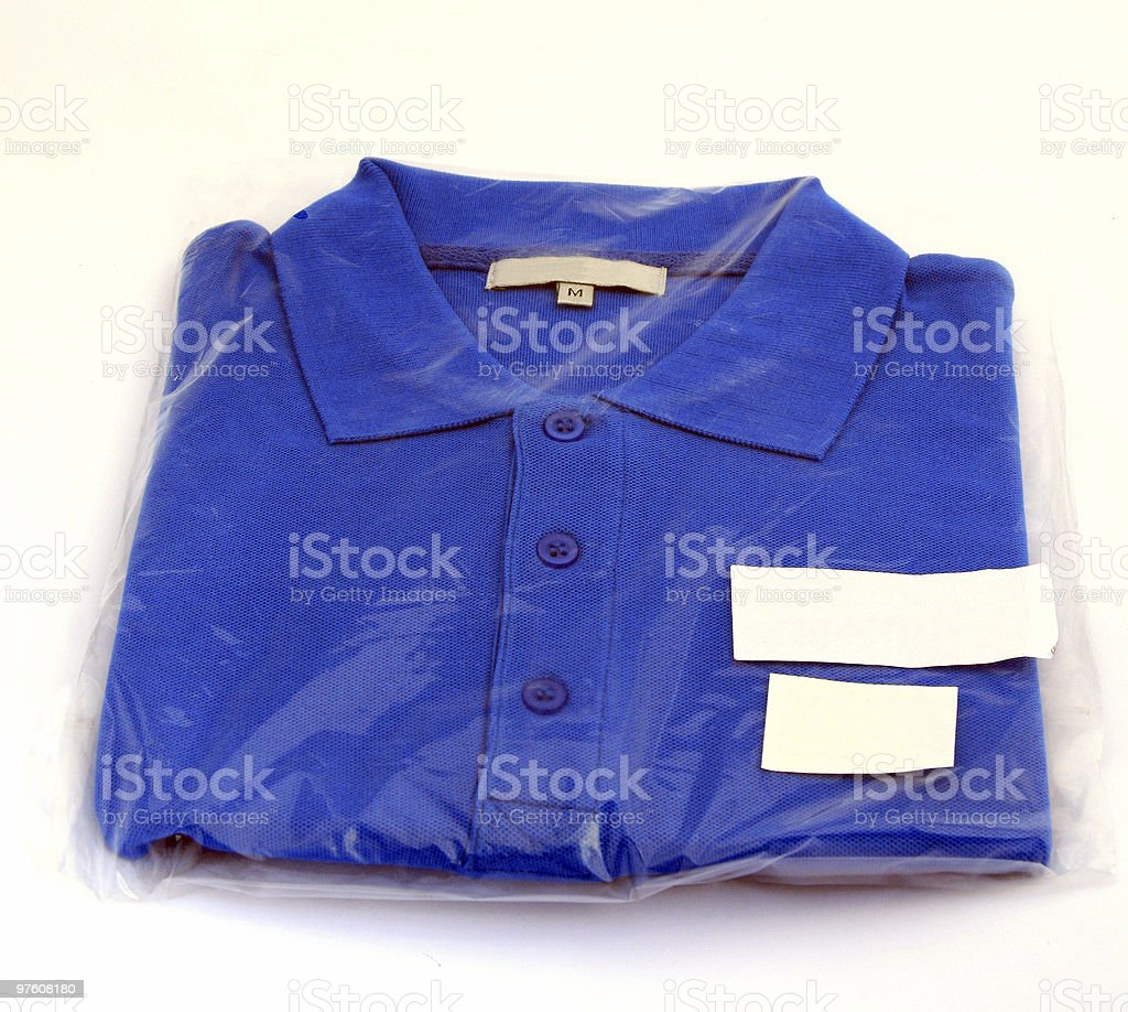 New blue sports shirt royalty-free stock photo