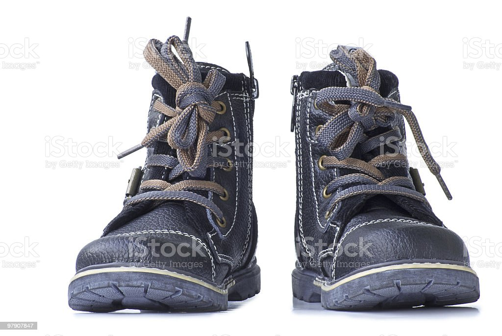 New Boots. Front view. royalty-free stock photo