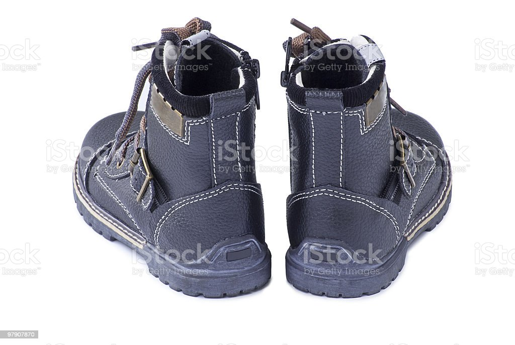 New boots. Rear view. royalty-free stock photo