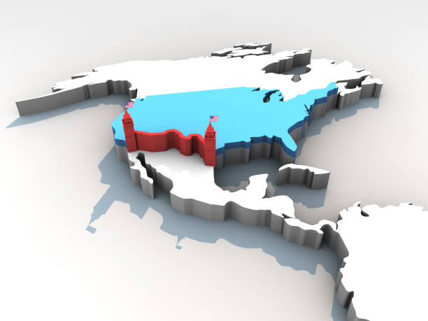 New Border Control Strategy of USA stock photo