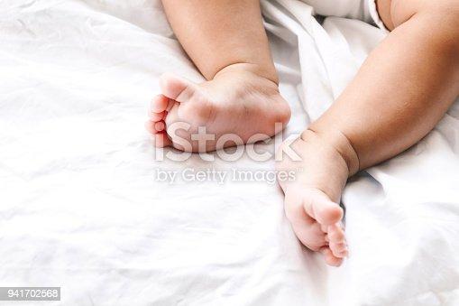 istock New born baby feet 941702568