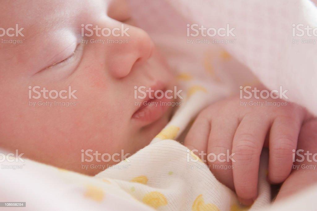 New Born Baby Girl- Soft Focus royalty-free stock photo