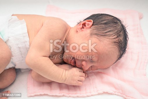 Close-up portrait of a beautiful sleeping baby  Baby - Human Age, Newborn, Sleeping, Babies Only, Human Face