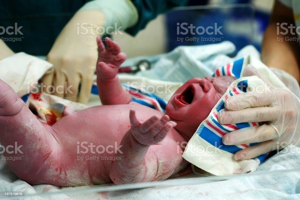 New Born cry royalty-free stock photo