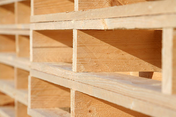 New Box Pallets stock photo