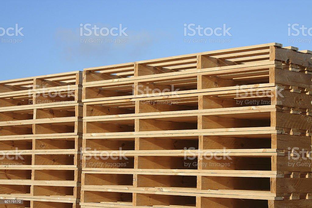 New Box Pallets royalty-free stock photo