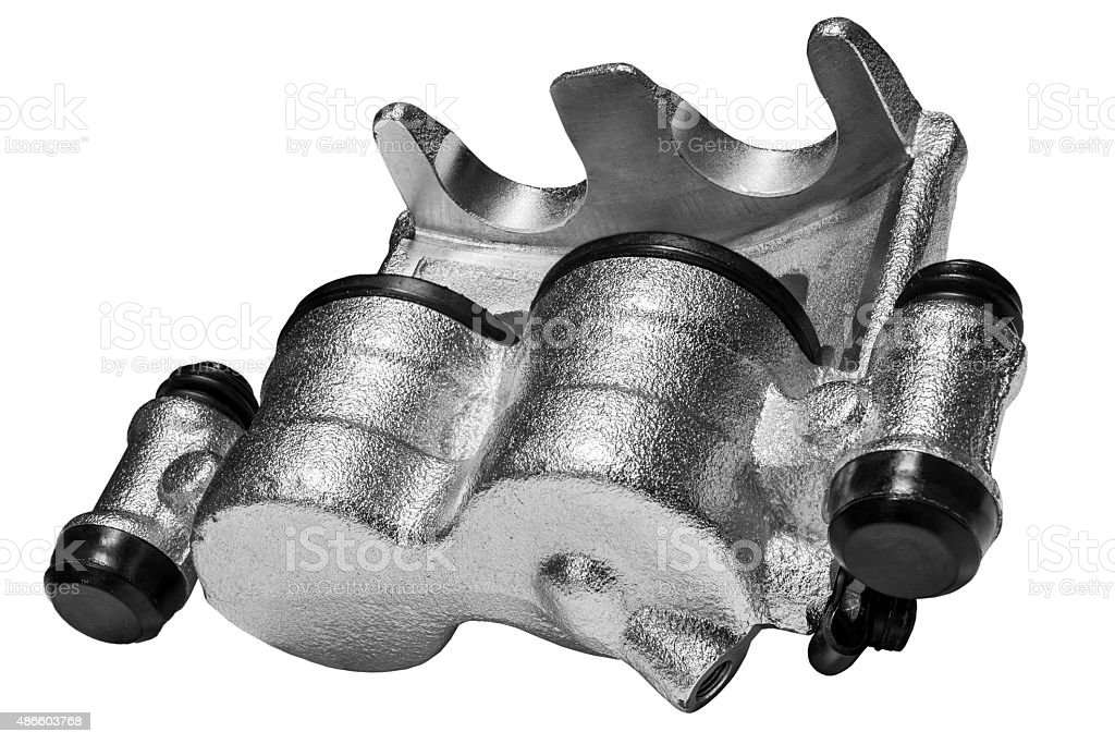New Brake Caliper stock photo
