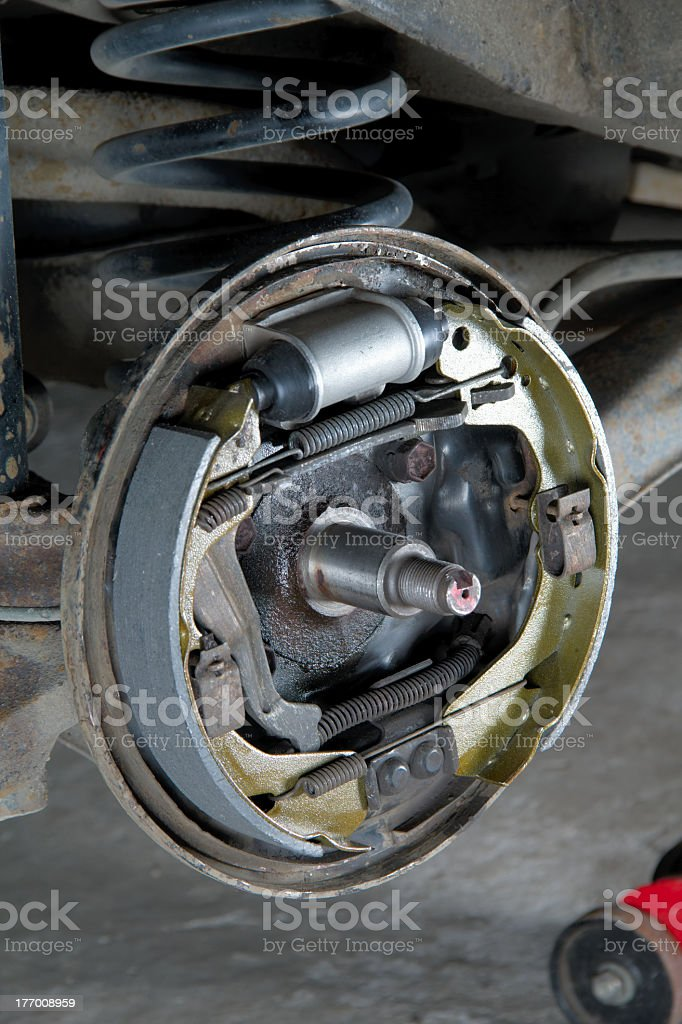 New brake pads and cylinder royalty-free stock photo