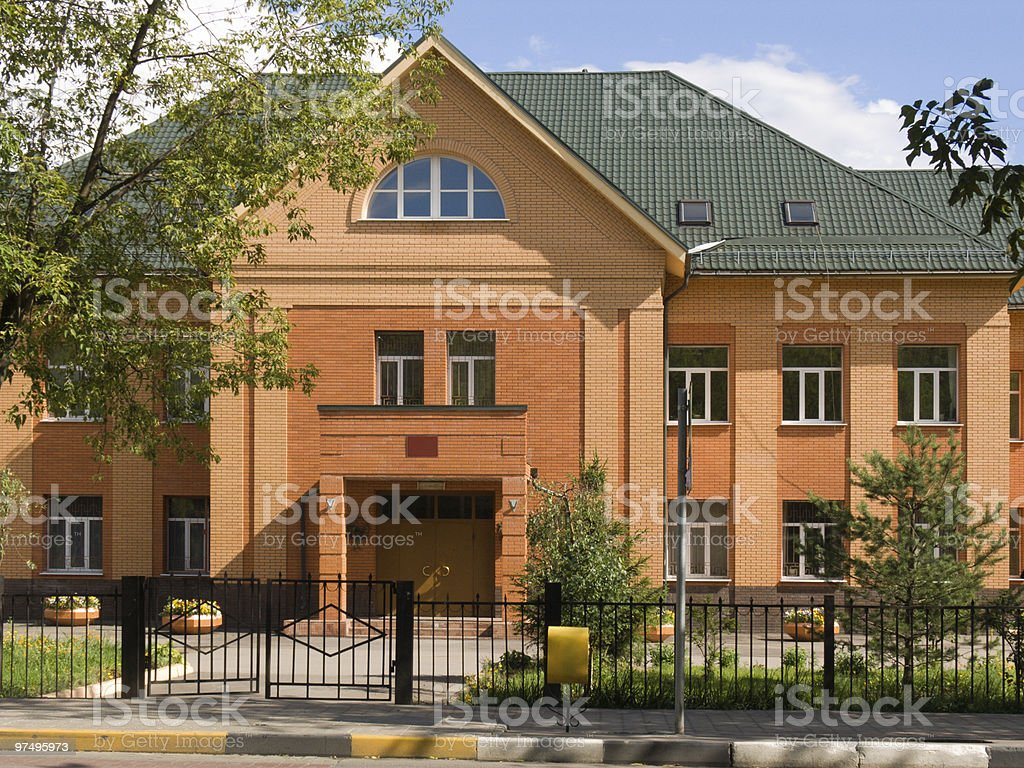 New brick cottage royalty-free stock photo