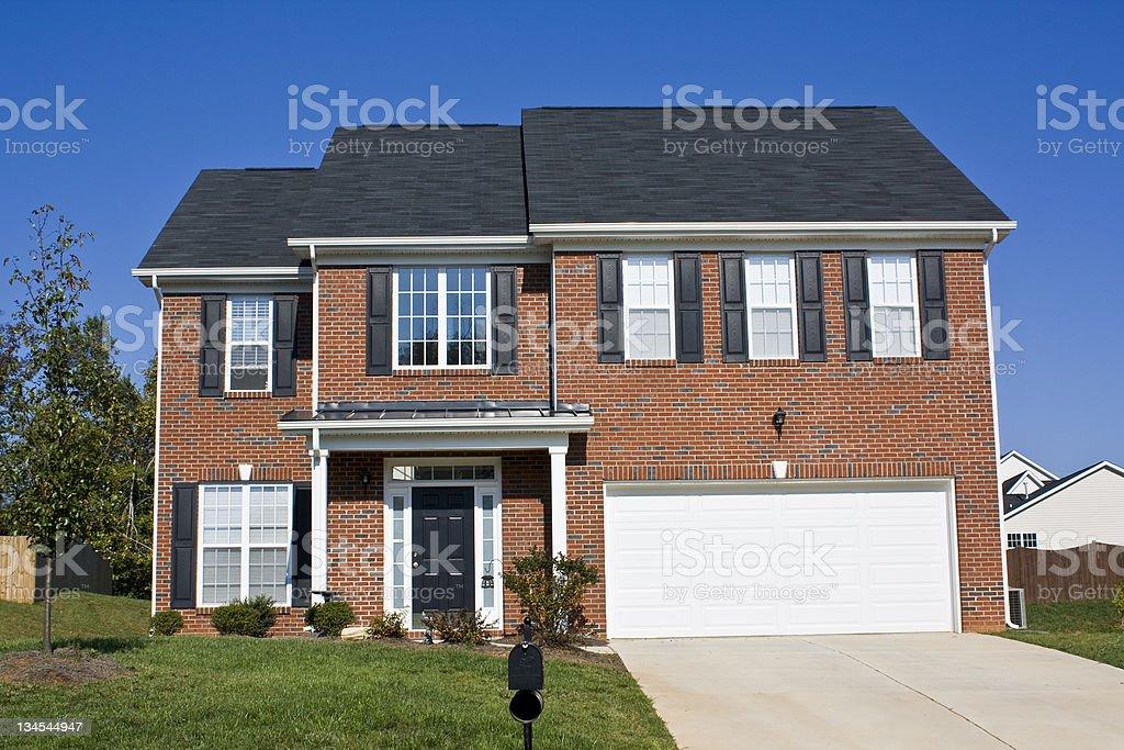 New Brick Home royalty-free stock photo