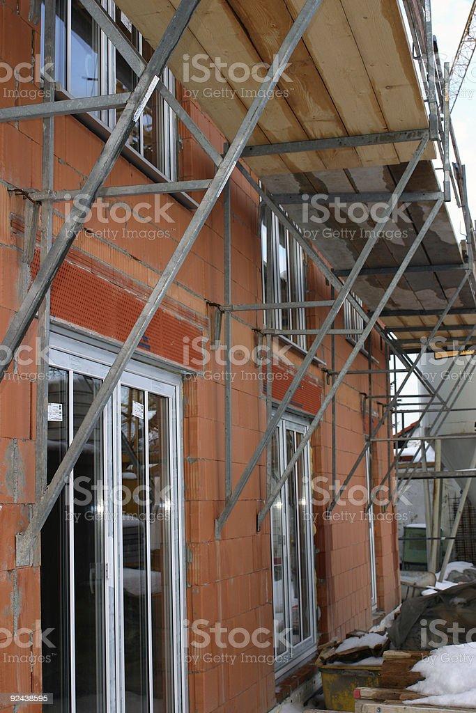 new brick house royalty-free stock photo