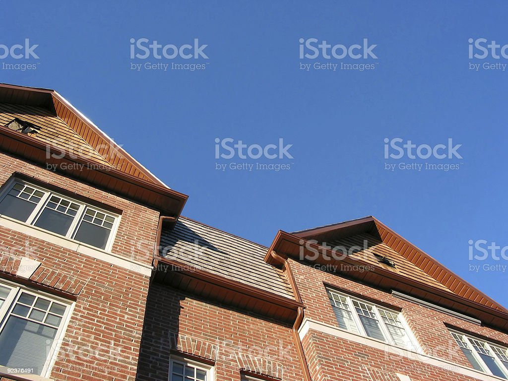 New brick townhomes royalty-free stock photo