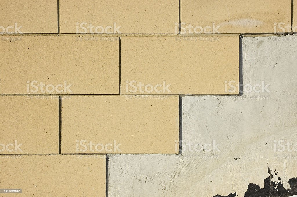 New brick work. Graphical statment royalty-free stock photo