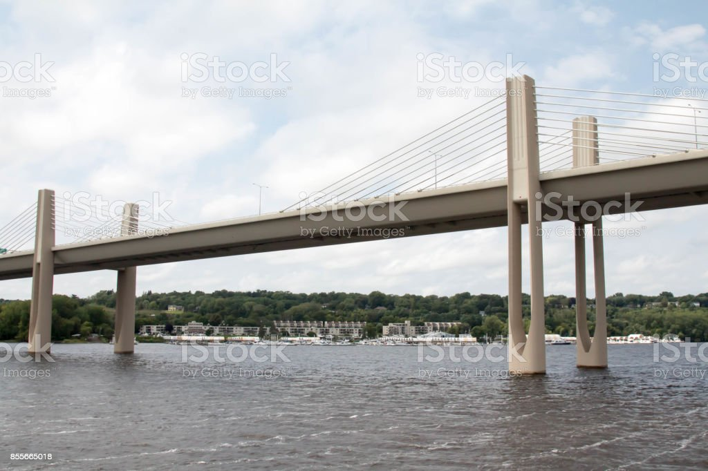 New bridge at Stillwater, Minnesota crossing the Saint Croix river stock photo